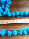 Jumbo Pom Pom Trim - 36mm - Blue