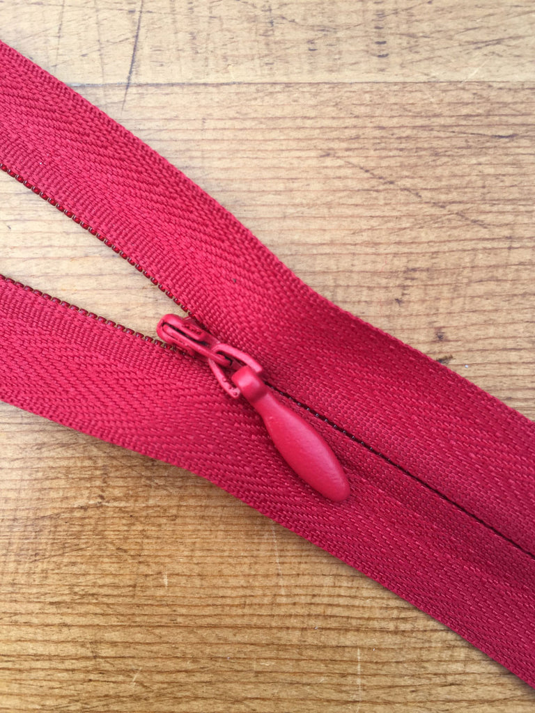 "Concealed Zip - 8""/20cm - Red - Craftyangel"