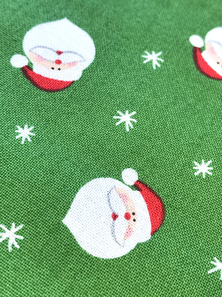 Santa Heads - Novelty Xmas - Green - Craftyangel