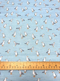Sea Breeze - Seagulls - Blue - Craftyangel