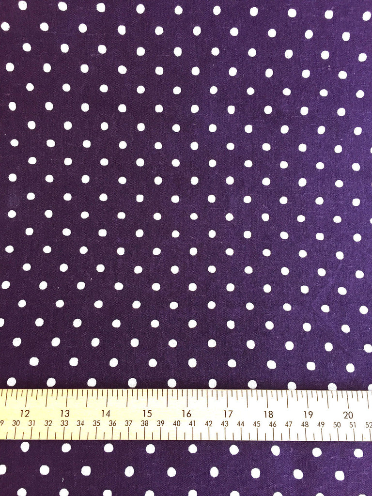 Sevenberry - Linen - Purple Spot - Craftyangel