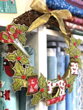 [1 space left] Xmas Sewing Wreath - Free Motion Embroidery workshop - with Sam Molloy [Sun 15th Dec 2.00-5.00pm] - Craftyangel