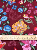 Nordic Garden Dream - Stauder - Red (Floral with butterflies) - Craftyangel