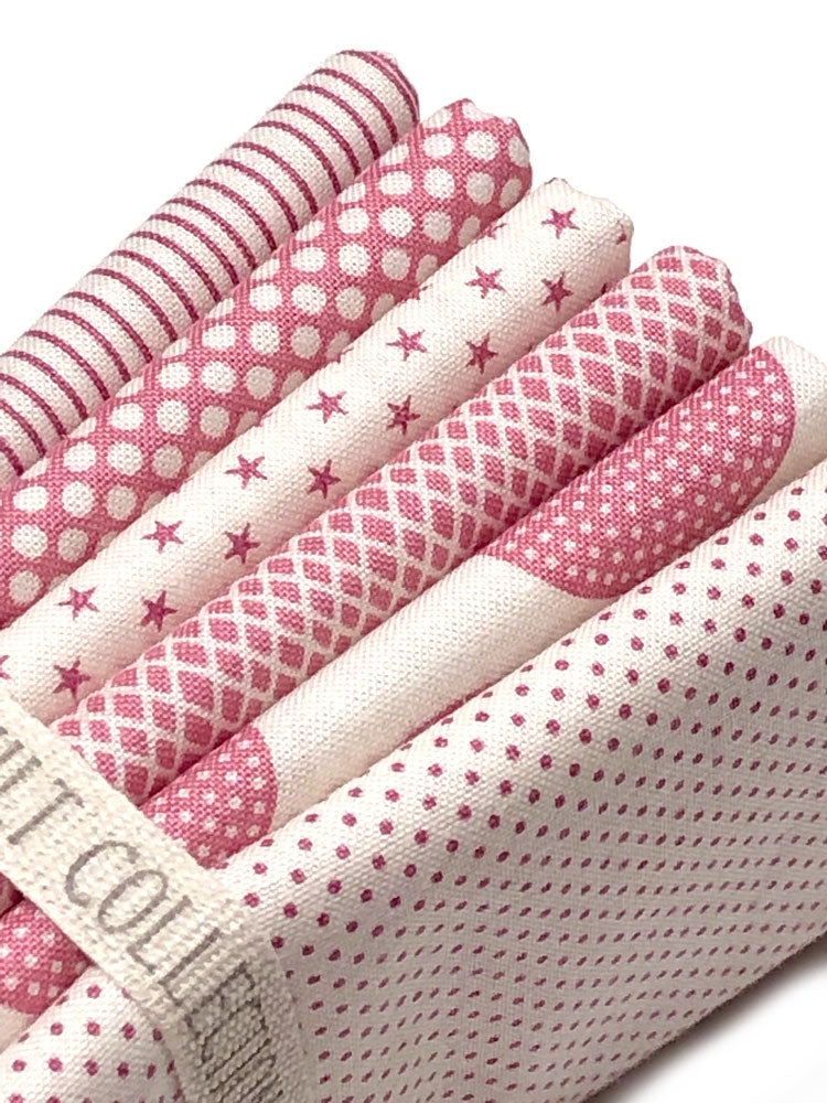 Tilda Classic Basics 6 x Fat Quarter Bundle - Soft Pink - Craftyangel