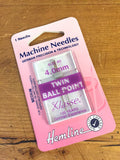 Sewing machine needles - Twin Ballpoint - 3mm - Craftyangel