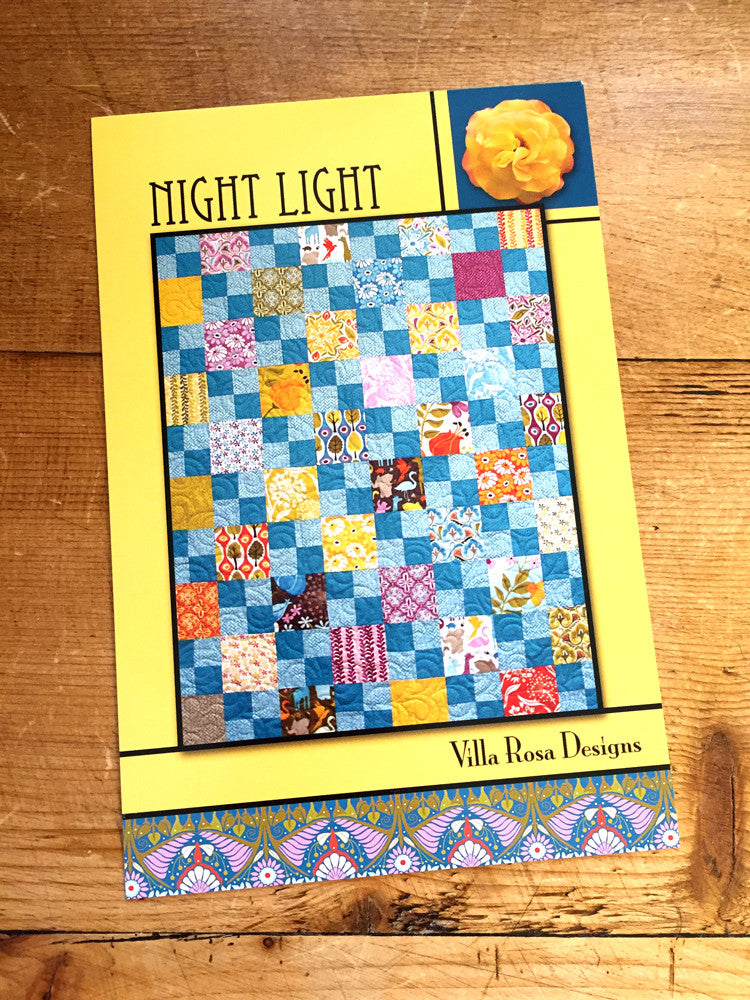 Villa Rosa - Night light quilt pattern