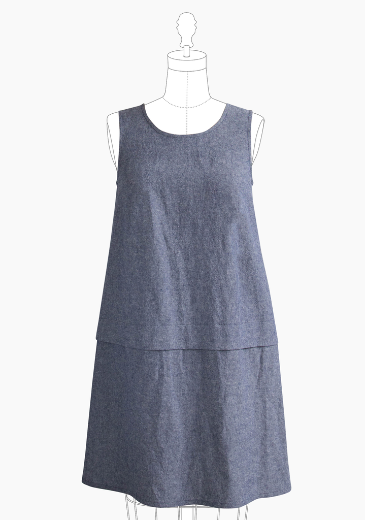 Grainline - Willow Tank dress pattern - Craftyangel