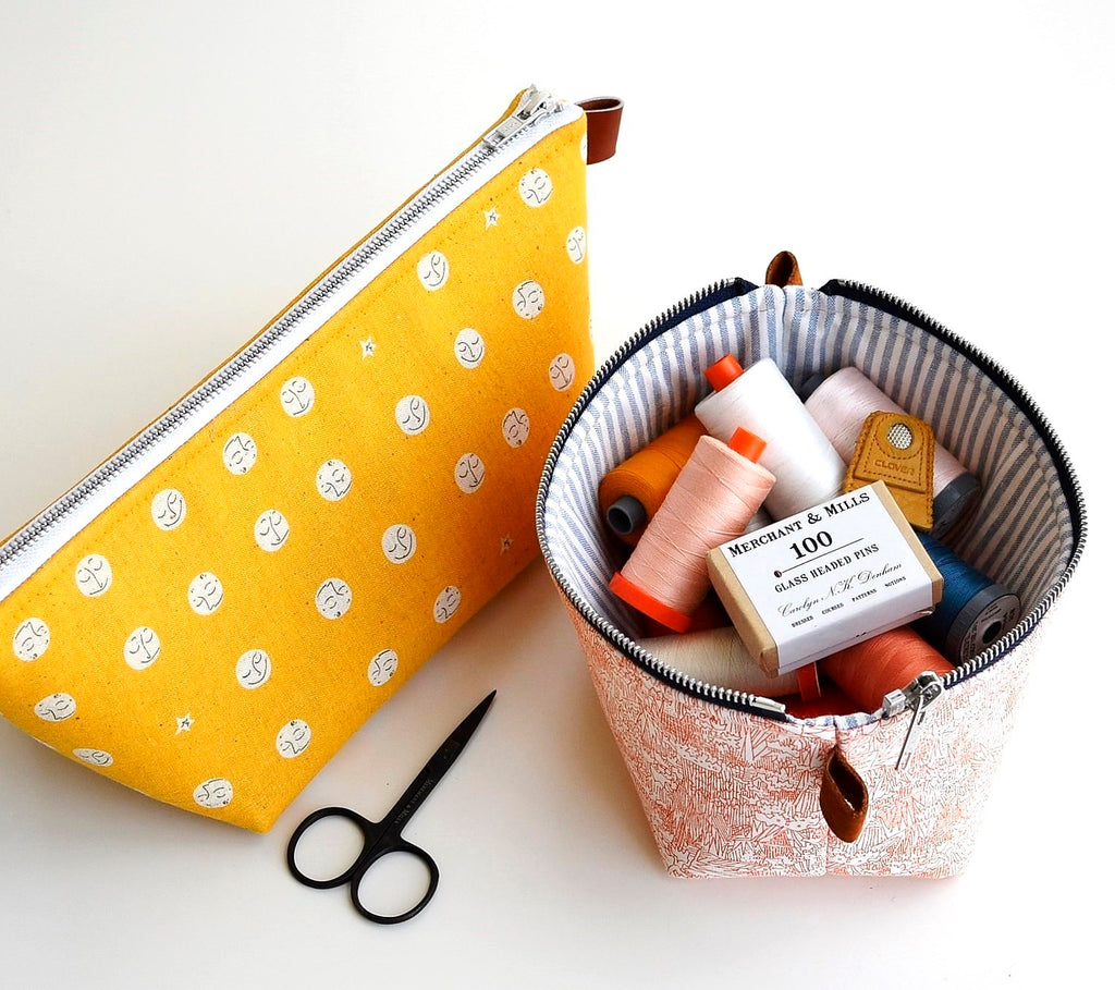 Zippered Basket Pouch by Aneela Hoey