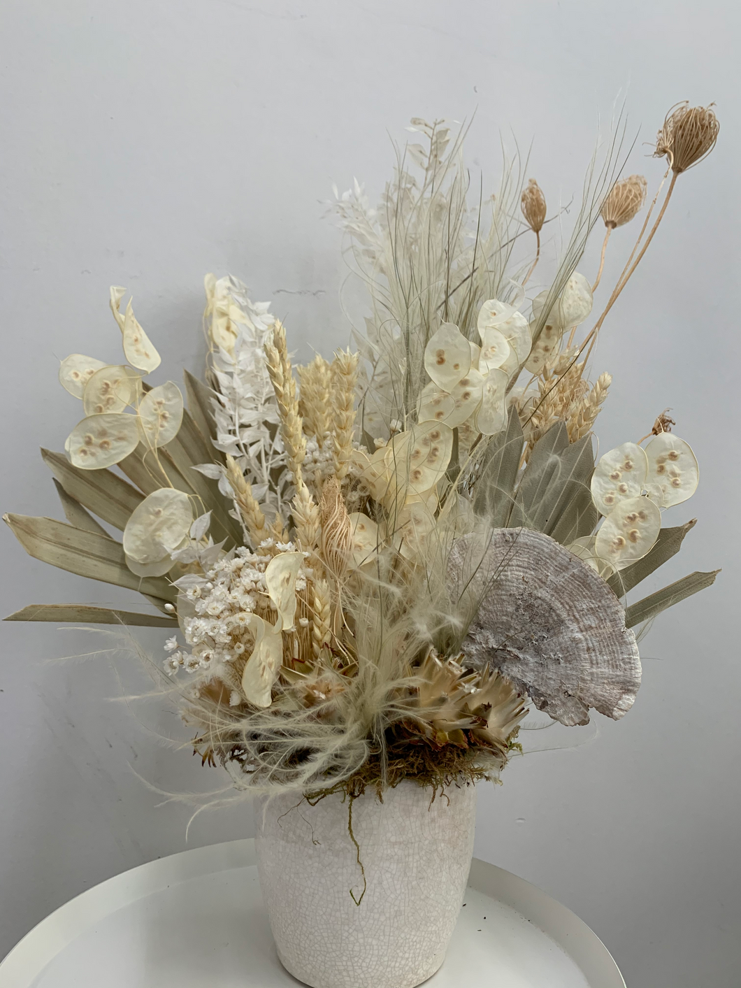 Forever Dried Arrangement- Whites and Off Whites
