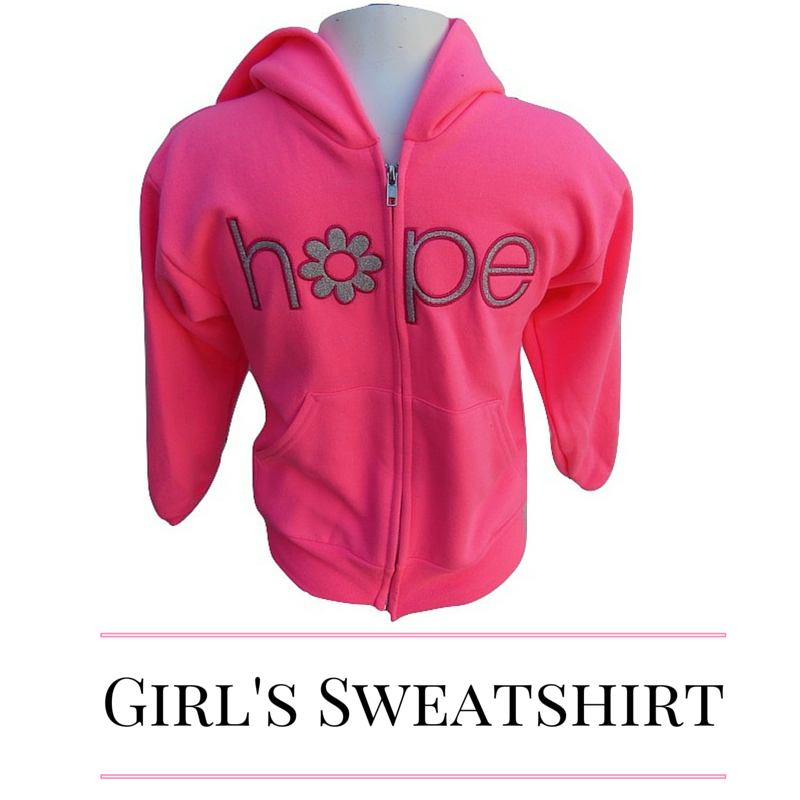 Neon Pink Girls' Hooded Zip-up