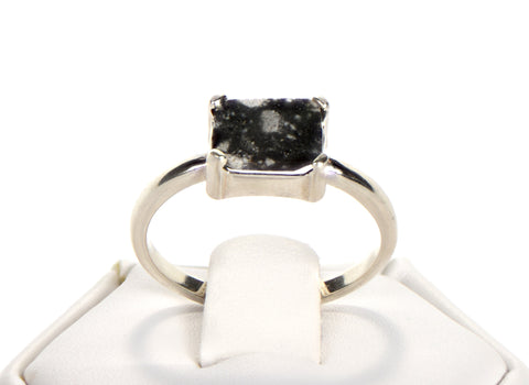The Moon Ring - Genuine Lunar Meteorite Jewelry - Size 7
