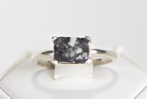 The Moon Ring - Genuine Lunar Meteorite Jewelry - In Sterling Silver