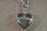 Mars Meteorite Locket |  1/2g Martian Nakhlite Meteorite Grains | Sterling