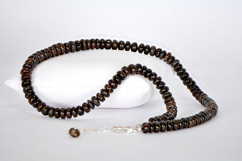 Meteorite Necklace with Hand Made Meteorite Beads - Jewelry