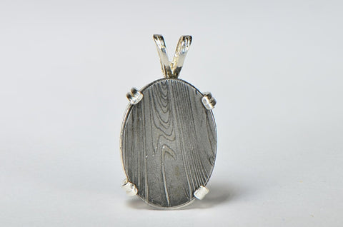 Meteorite Pendant I Beautiful Damascus Steel Pendant - Meteorite Jewelry