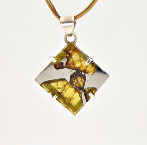 Beautiful FUKANG Pallasite Meteorite Pendant - Jewelry