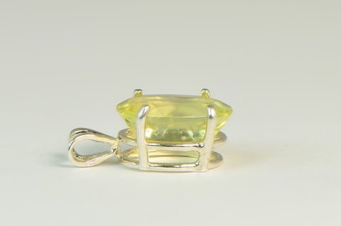 Beautiful Faceted Libyan Desert Glass Pendant - Jewelry