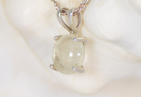 Libyan Desert Glass and Silver Pendant - Jewelry