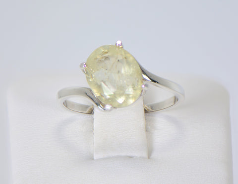 Libyan Desert Glass Beautiful Faceted Ring - Size 8 - Jewelry