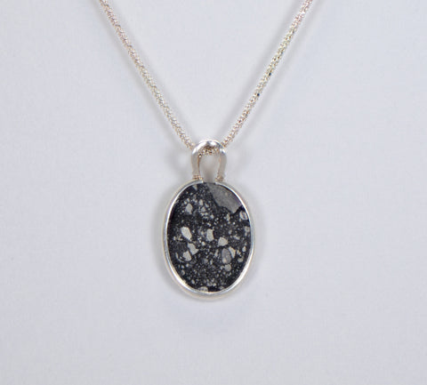 The Moon Pendant - Genuine Lunar Meteorite Jewelry - Sterling Silver