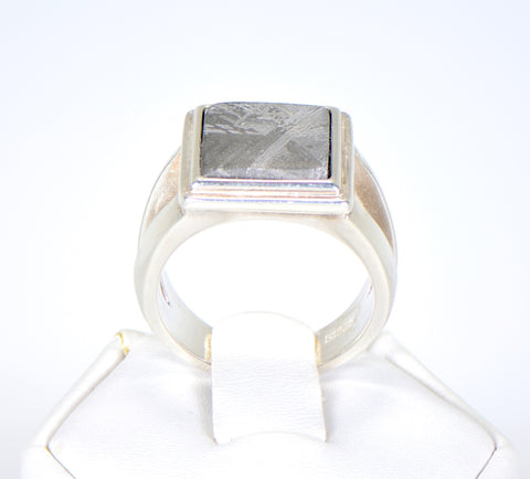 Beautiful Etched MUONIONALUSTA Meteorite Ring I Size 7 - Meteorite Jewelry