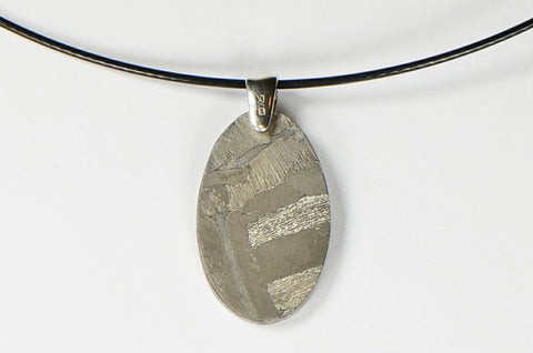 Meteorite Pendant I Beautiful Etched MUONIONALUSTA  - Meteorite Jewelry
