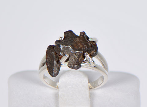 SERICHO Pallasite Meteorite Beautiful Ring - Size 5.75