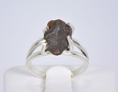 SERICHO Pallasite Meteorite Beautiful Ring - Size 6.75