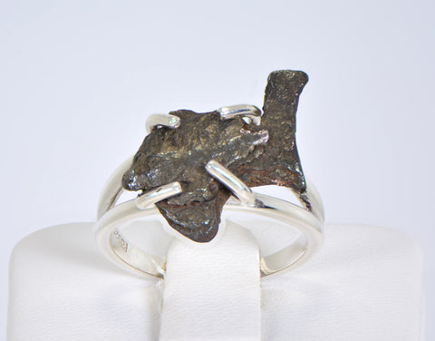 SERICHO Pallasite Meteorite Beautiful Ring - Size 6
