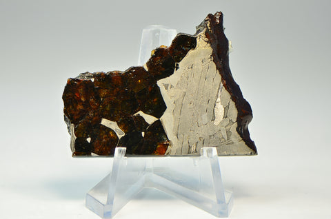 16g SEYMCHAN Meteorite Slice I Etched I Pallasite / Iron Collection Specimen