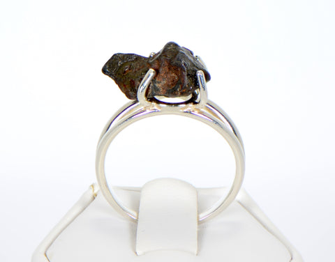SERICHO Pallasite Meteorite Beautiful Ring - Size 9 - Meteorite Jewelry
