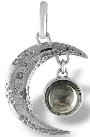 The Moon Pendant - Genuine Lunar Meteorite Jewelry