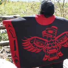 Native Reversible Fashion Wrap Sea Eagle Design Back