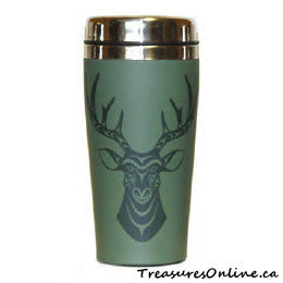 Buy Native Design Deer 16oz Stainless Steel Travel Mug Online