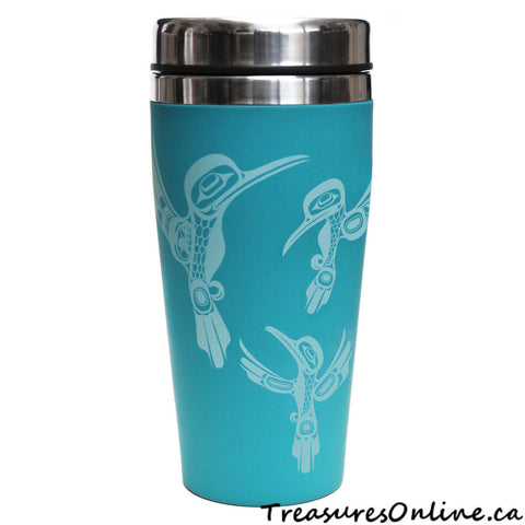 Buy Native Design Hummingbirds 16oz Stainless Steel Travel Mug Online