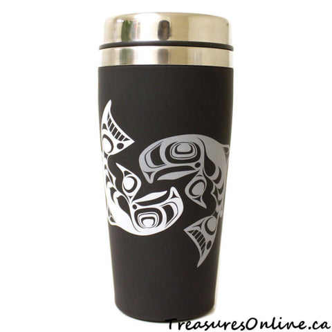 Buy Native Design Salmon 16oz Stainless Steel Travel Mug Online