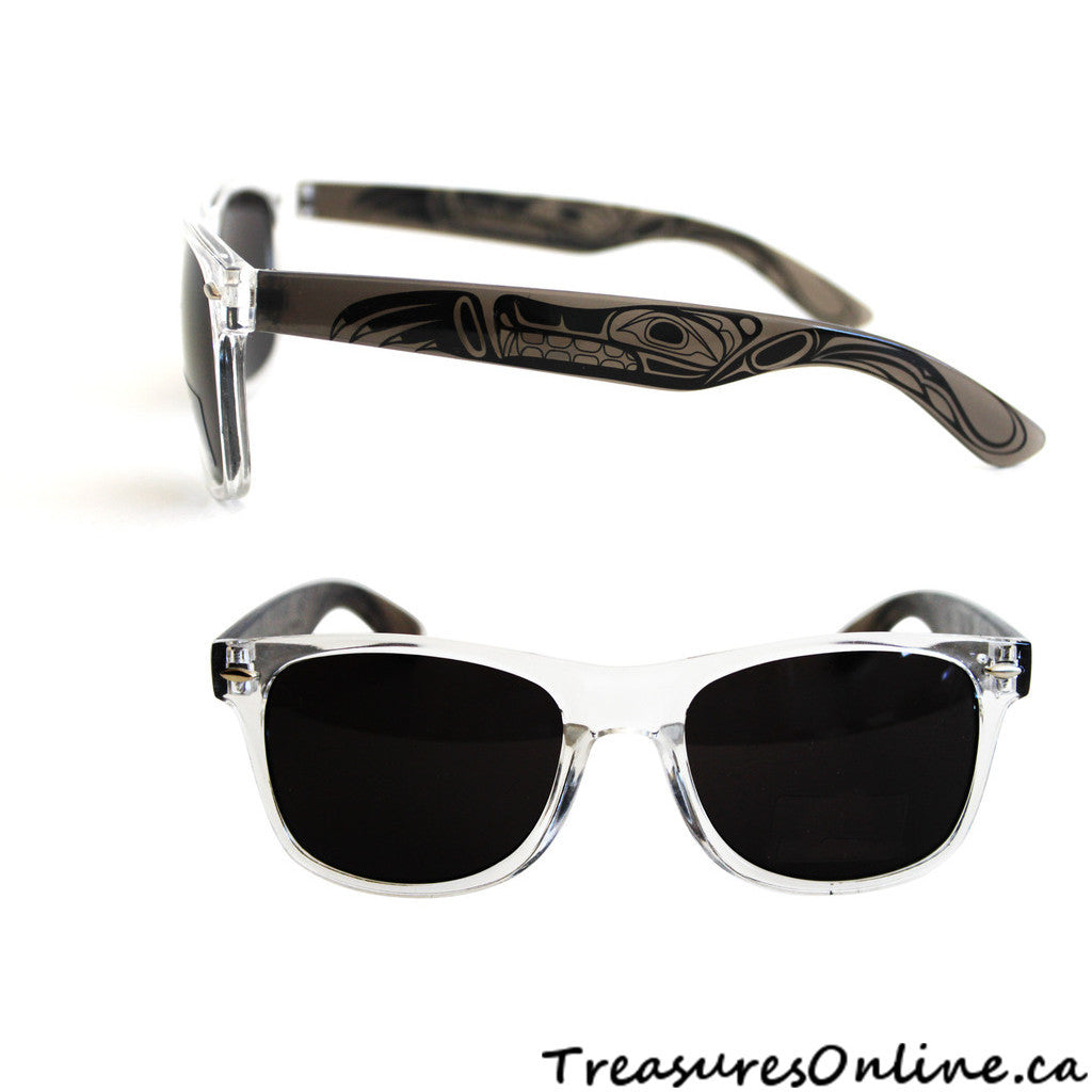 Buy  Native Wolf Adult Sunglasses Clear Frames Online