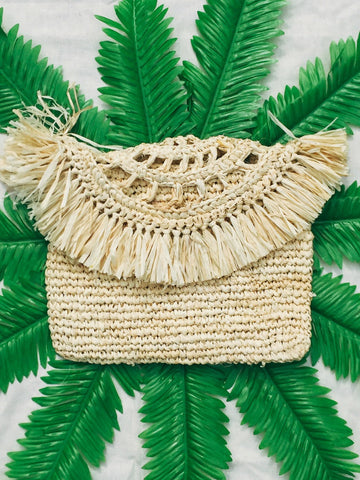Tropicana Clutch- Cream