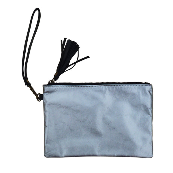 Barbarella - Silver Metallic Purse