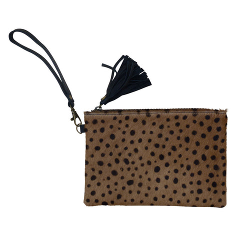 Eartha - Leopard Cowhide Purse