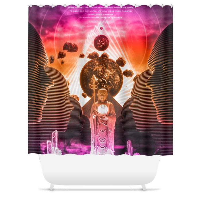 DO ME MONOMYTH Shower Curtains 71x74 inch