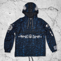 MANTRA V2 • Blue Camo • Hooded Pullover Windbreaker Apparel