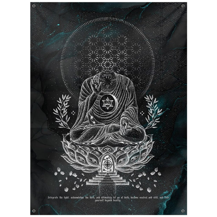 Lotus-V3-Tapestries 59x80 inch Outdoor Poly with Grommets