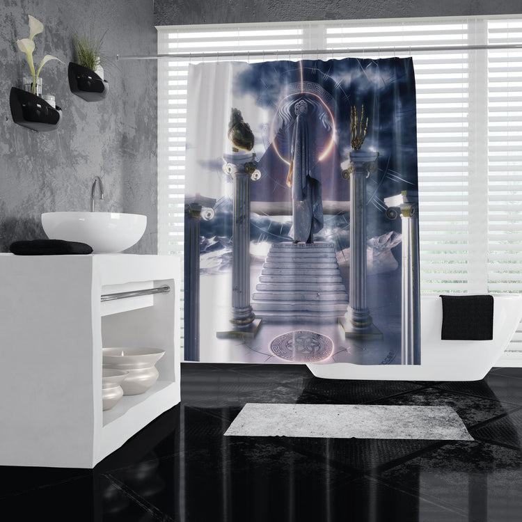 Path to Ascension Shower Curtains