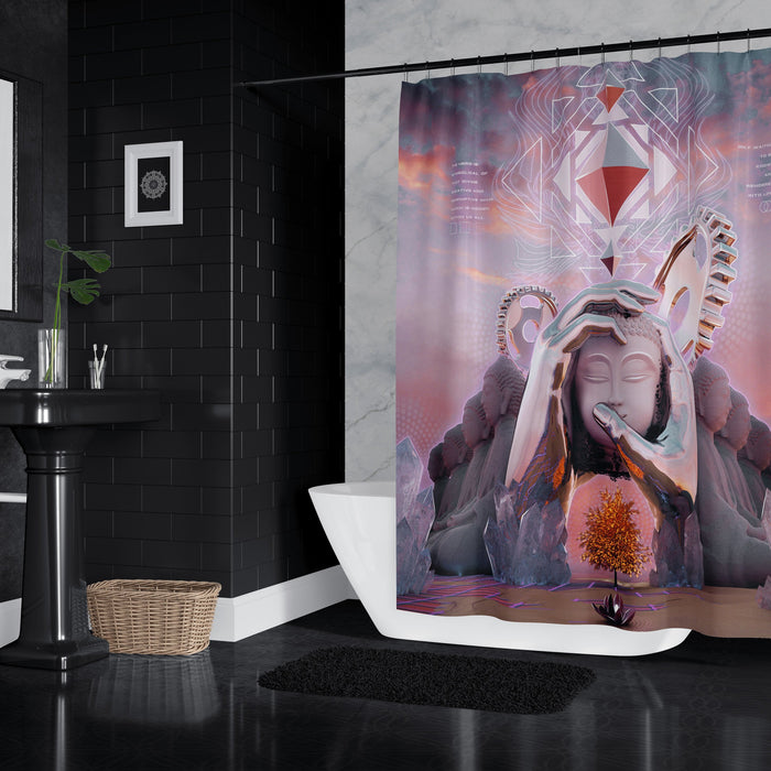 HERO'S JOURNEY V1 • STOIC DIGITAL • Shower Curtain Shower Curtain