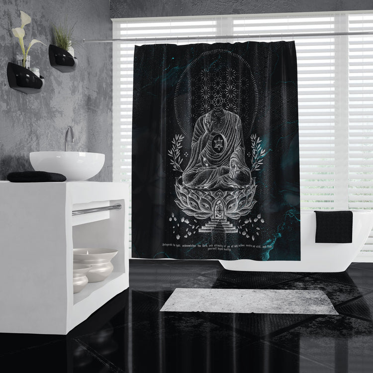 LOTUS THRONE V2 • GLENN THOMSON • Shower Curtain