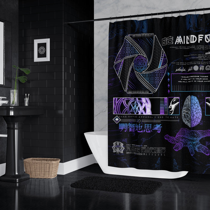Mind of Zennn V1 Shower Curtains