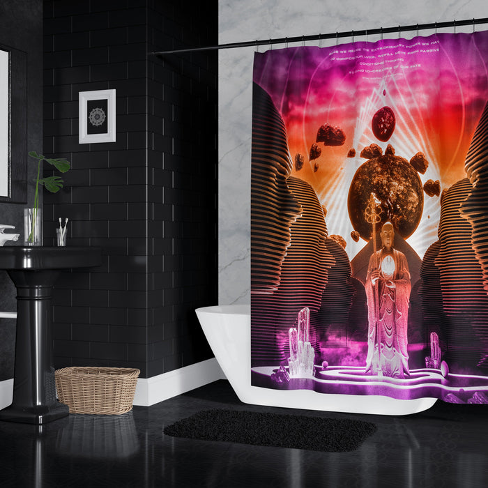 MONOMYTH • STOIC DIGITAL • Shower Curtain Shower Curtain