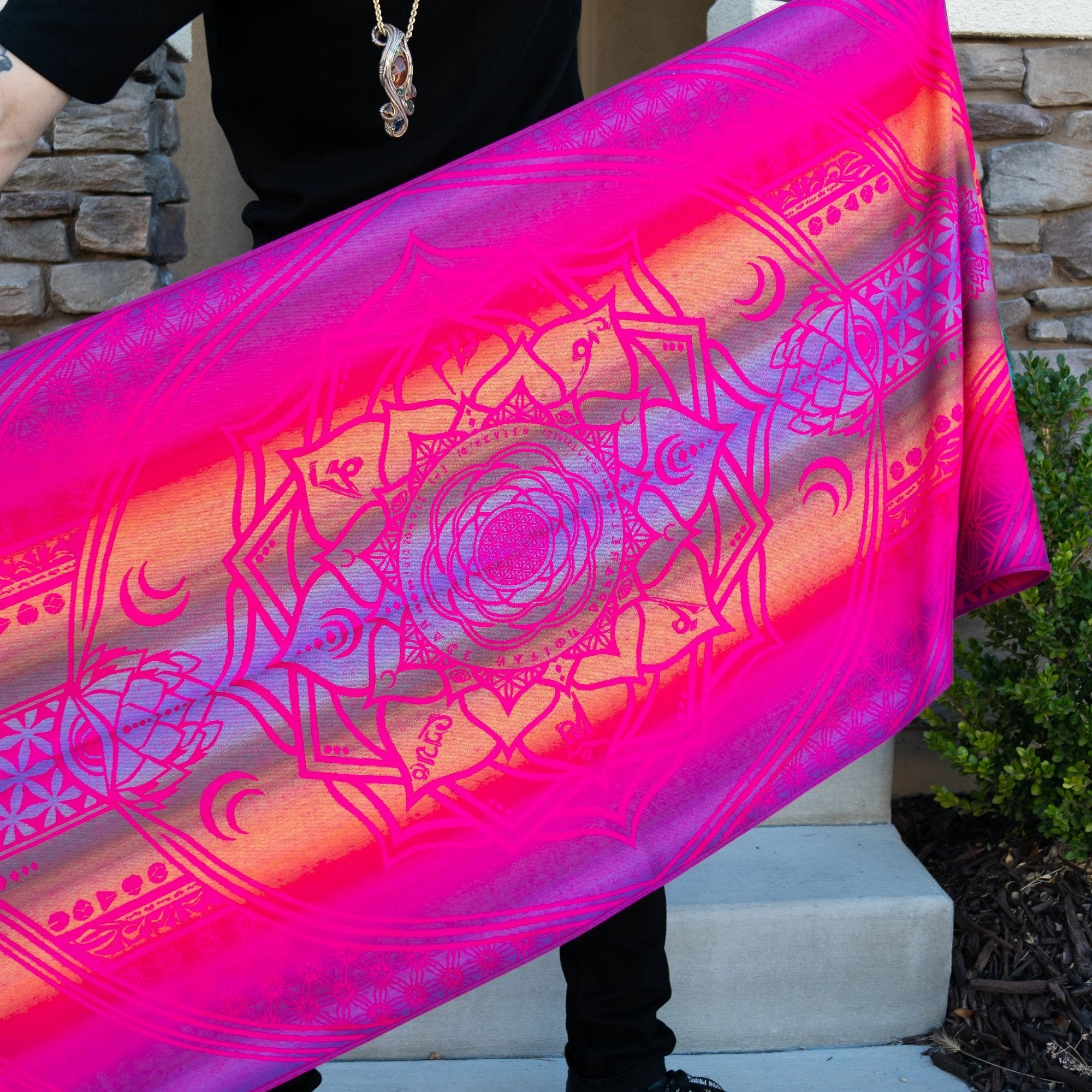 PRE-ORDER • MANTRA • PINK SPECTRUM • Reversible Festival Shawl/Scarf Shawls