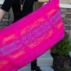 MANTRA • PINK SPECTRUM • Reversible Festival Shawl/Scarf